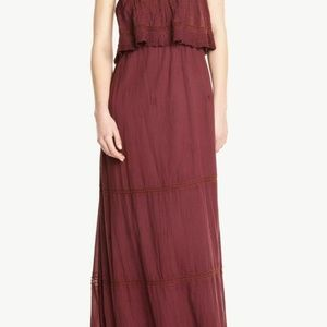 Ba&sh Debo Eyelet Embroidered Tube Maxi Dress